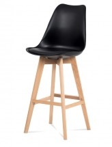 Barová židle Lina (černá) - PŘEBALENO