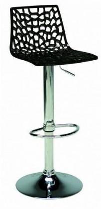 Barová židle Spider (černá)