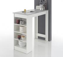 Barový stolek Mariano (bílá, šedá)