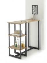 Barový stolek Ponce (dub, černá)