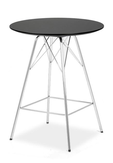 Barový stůl LOLA 9306-024+PORGY BAR 9340-091 (černá,chrom)