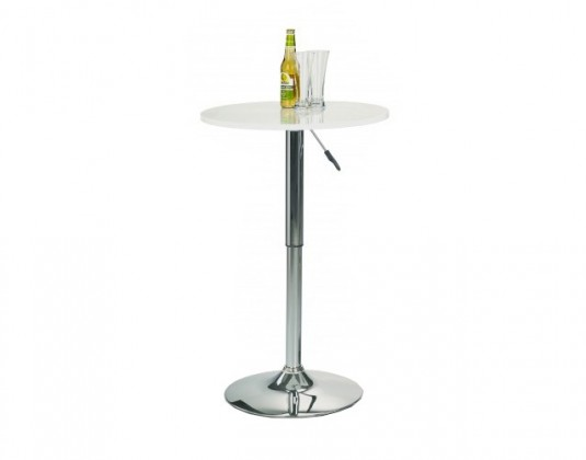 Barový stůl SB-1(bílá / ocel)