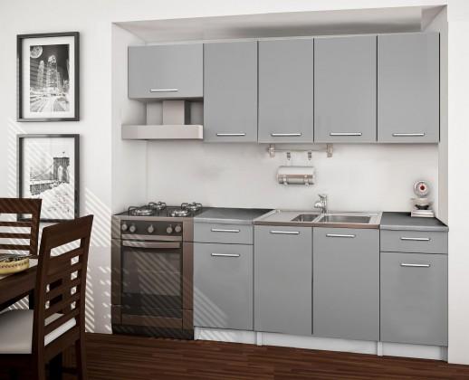 Basic - kuchyňský blok A, 220 cm (šedá)