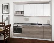 Basic - Kuchyňský blok B, 220 cm (bílá, trufle, titan)