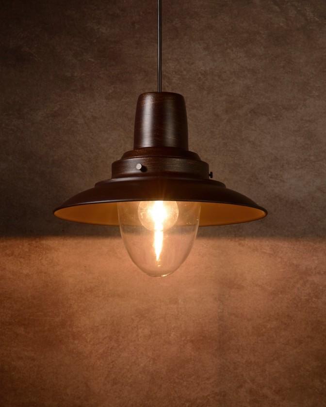 Bastia - stropní osvětlení, 24W, E27 (bronzová)