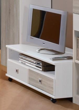 Bazar dětské pokoje Sunny - TV stolek (dub, alpská bílá)
