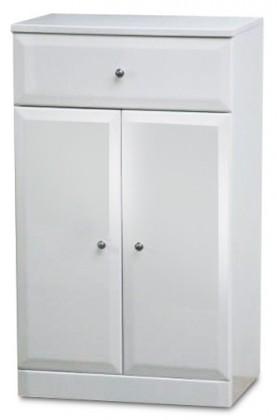 Bazar koupelny Koupelnová skříňka SD 303 volně stojící (bílá, lesk)