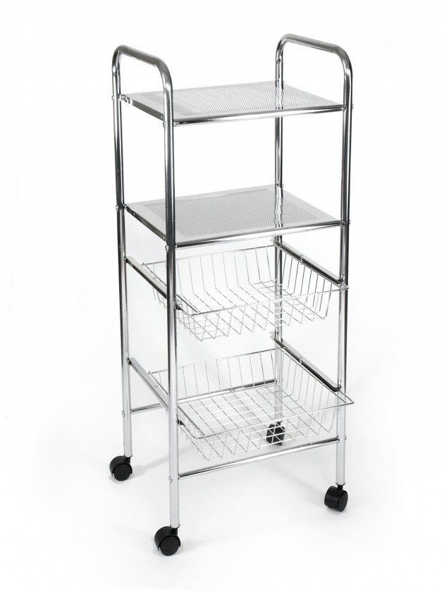 Bazar koupelny Koupelnový vozík, 98 cm (chrom)