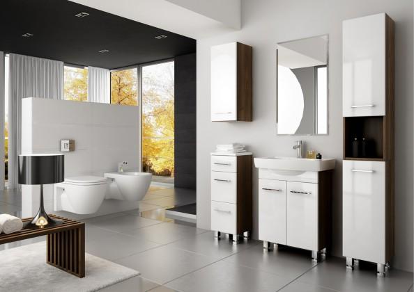 Bazar koupelny Roma 1 - koupelnová sestava s umyvadlem (bílá)