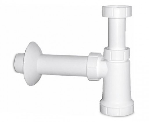 Bazar koupelny Umyvadlový sifon (bílý plast)