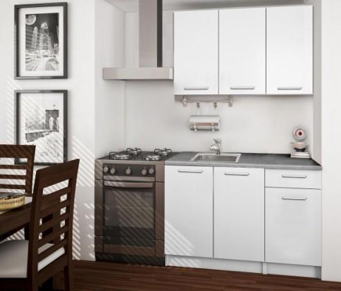 Bazar kuchyně, jídelny Basic - Kuchyňský blok A, 120 cm (bílá, titan)