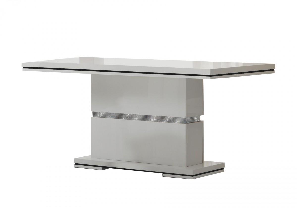 Bazar kuchyně, jídelny Diva - Jídelní stůl 160 cm (bílá/diamant)