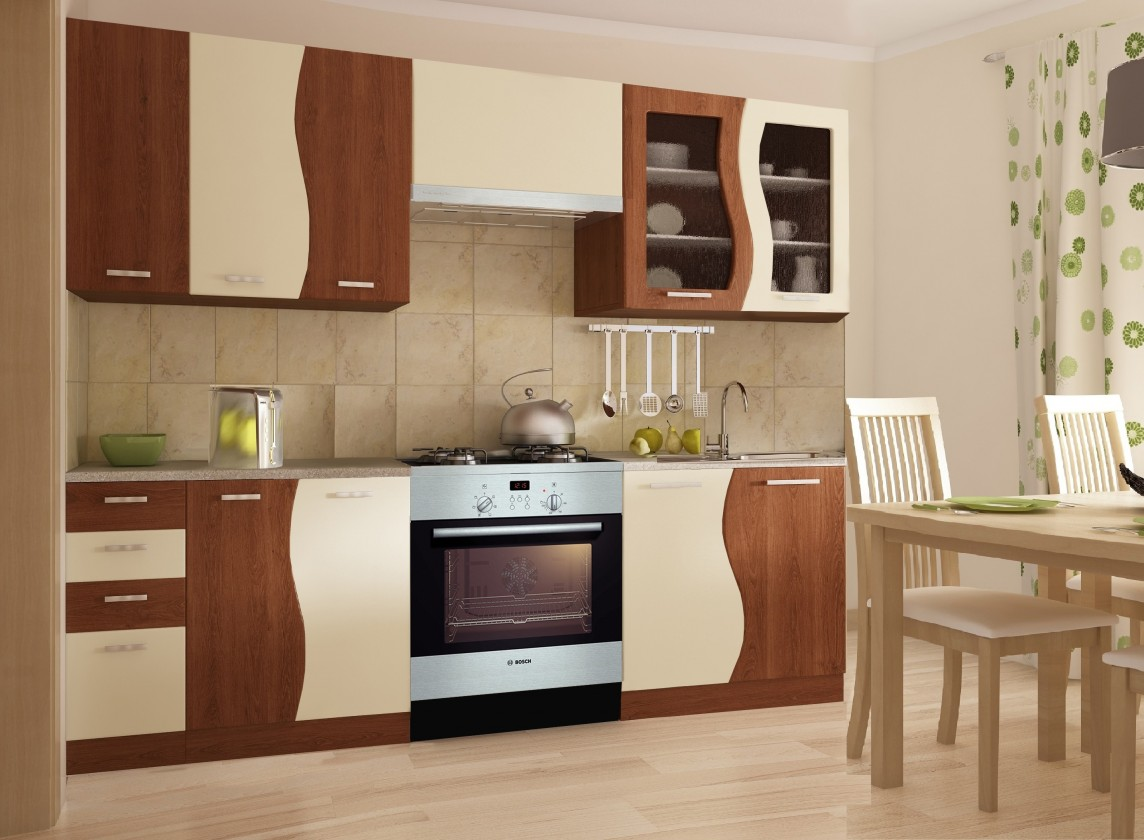 Bazar kuchyně, jídelny Dunaj 240x180 cm (hruška/vanilka)