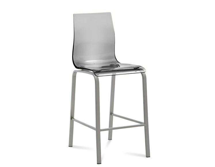 Bazar kuchyně, jídelny Gel-R-Sgb - Barová židle (hliník, průhledná)