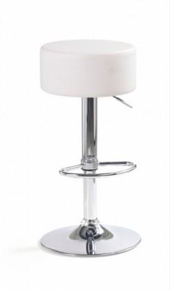 Bazar kuchyně, jídelny H-23 - Barová židle (eko kůže bílá, chrom)