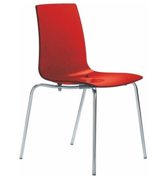 Bazar kuchyně, jídelny Lollipop - Jídelní židle (rosso transparente)