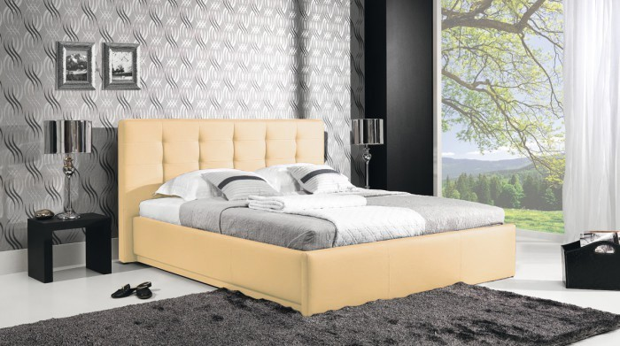 Bazar ložnice Avalon - Rám postele 200x160, rošt, úložný prostor (eko skay103)