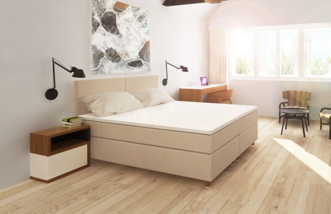 Bazar ložnice Boxbed(BED 180x200, HB cube 114x180 - camel, nohy buk)