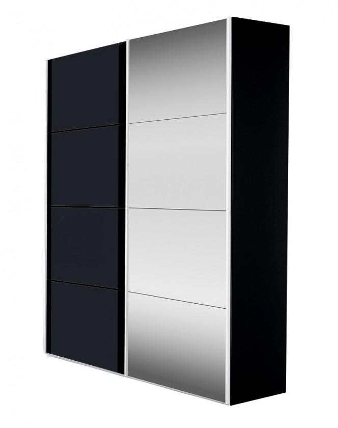 Bazar ložnice Flavour 7093151 (antracit/křišťálové zrcadlo)