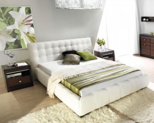 Bazar ložnice Forrest - Rám postele 200x140, rošt 200x140 (eko skay 017)