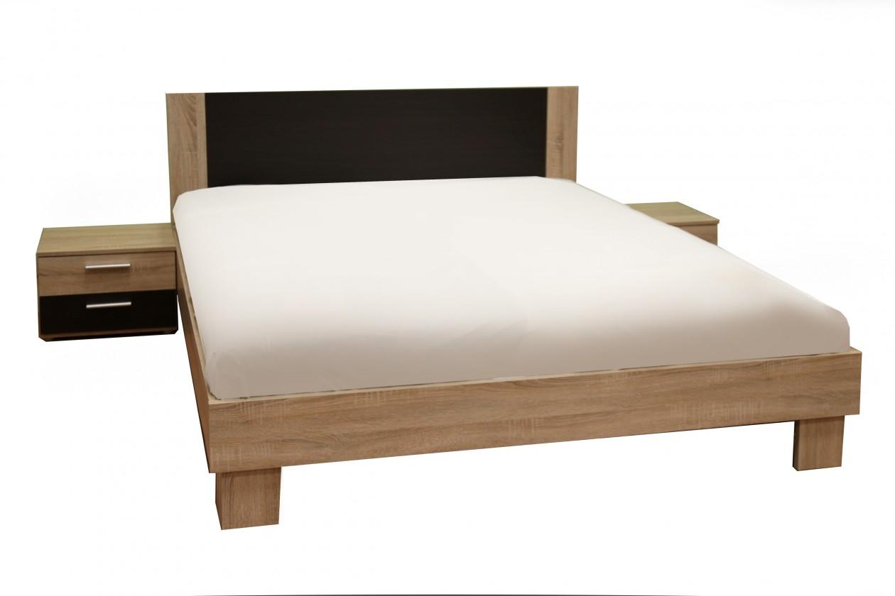 Bazar ložnice Helen - komplet, postel 160cm (dub sonoma, dub denver)