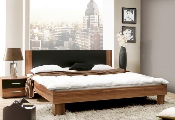 Bazar ložnice Helen - komplet, postel 180cm (matná černá, italský ořech)