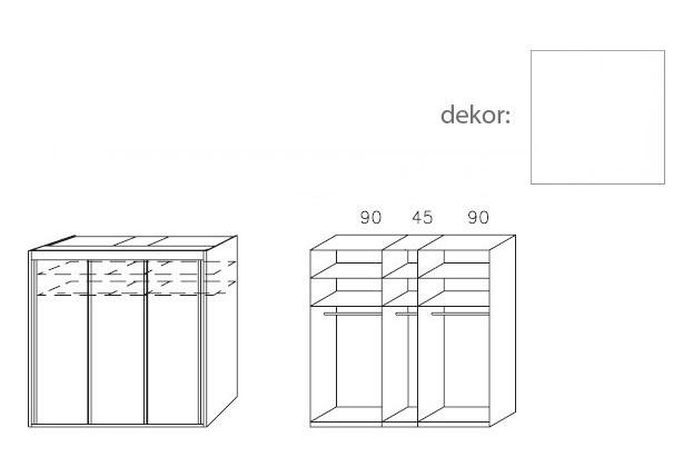 Bazar ložnice Imperial A8016.1i07 (Alpská bílá)