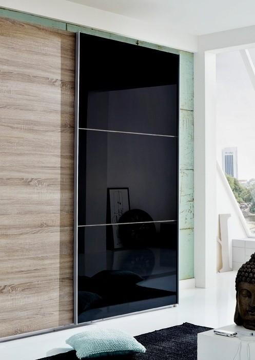 Bazar ložnice Match Up-Dveře (černé sklo 973)
