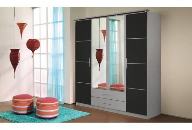 Bazar ložnice Micro A8603.013E (Metalická šedá/kartáčovaný hliník)