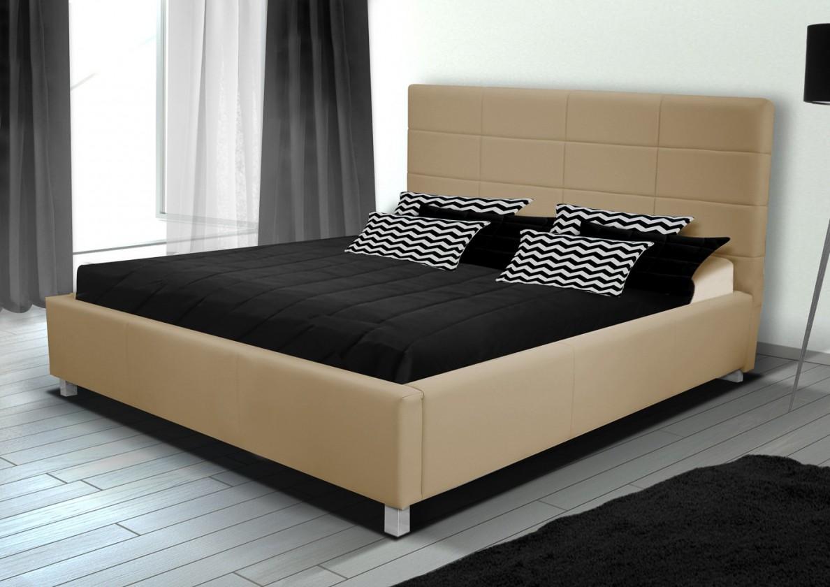 Bazar ložnice Postel IX - 180x200 cm, rošt, úložný prostor (soft 01)