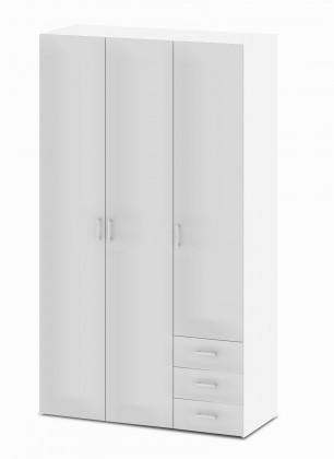 Bazar ložnice Space - 3 dveře (bílá, vysoký lesk)