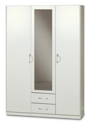 Bazar ložnice Sprint - skříň 135 cm,3x dveře,1x zrcadlo (alpská bílá)