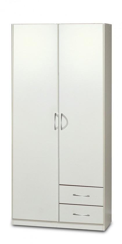 Bazar ložnice Sprint - Skříň 90 cm, 2x dveře, 2x zásuvka (alpská bílá)