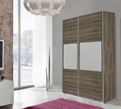 Bazar ložnice TRIO3 - Skříň, 152x213x67 (dub tmavý)
