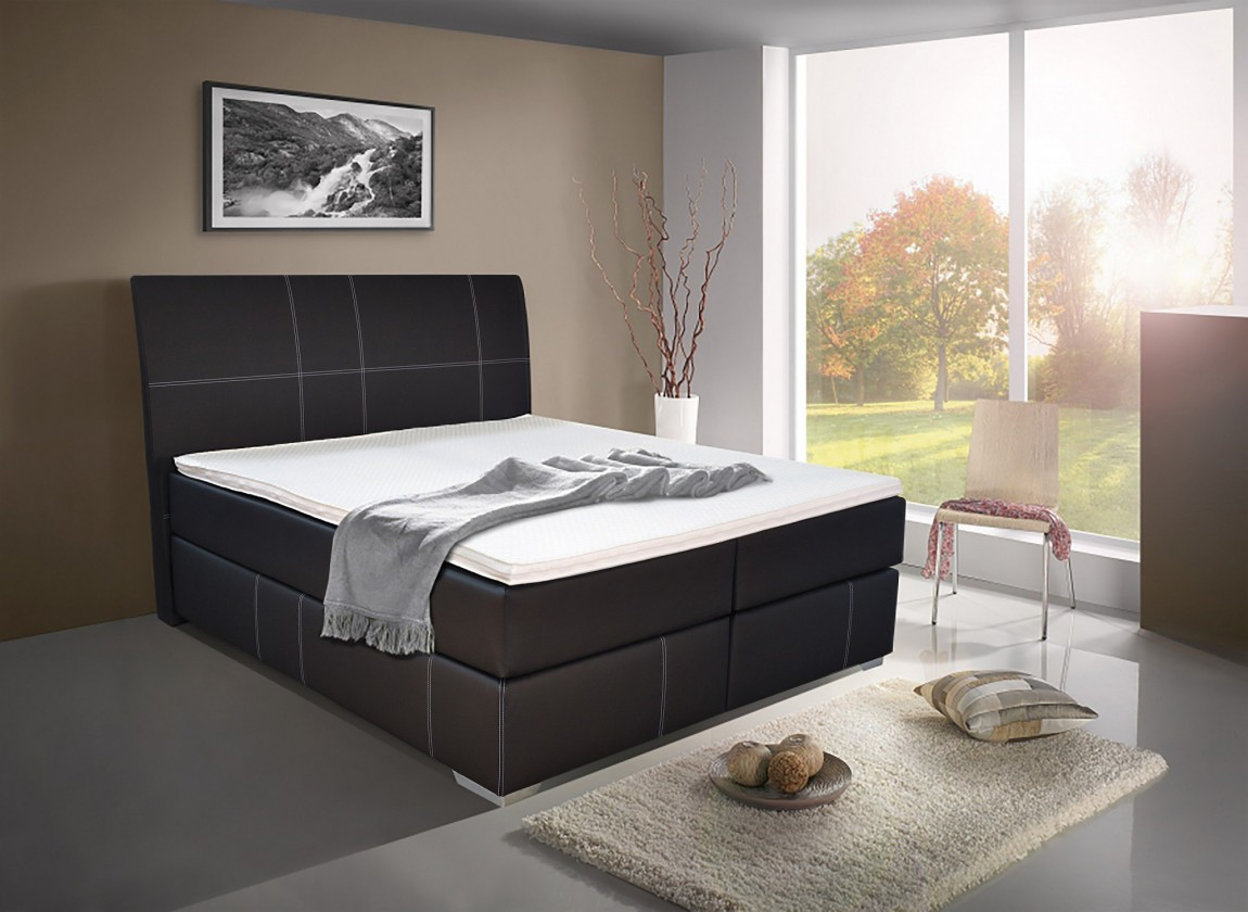 Bazar ložnice William-Boxspring (loft black)