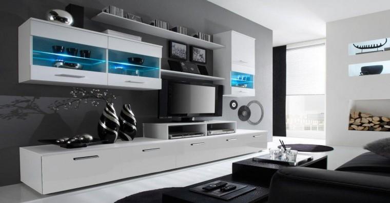 Bazar obývací pokoje Alfa - obývací stěna (bílá/bílá)