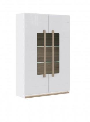 Bazar obývací pokoje Attention-ATNV62B(P50 - bílý / dub sonoma / bílý lesk)
