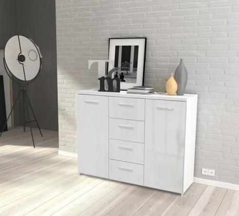Bazar obývací pokoje Crown-CRWK26(bílá matná / bílá lesklá)