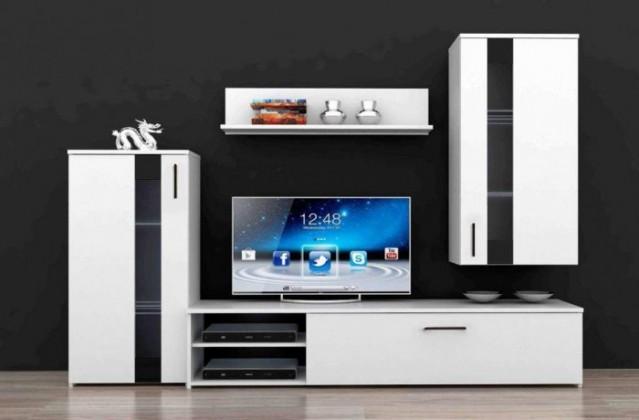 Bazar obývací pokoje Crunch CRCM01 (Bílá/černá)