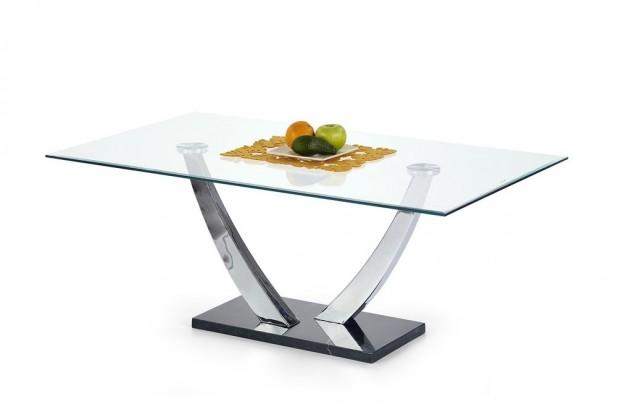 Bazar obývací pokoje Isaura - Konferenční stolek (sklo/chrom/mramor)