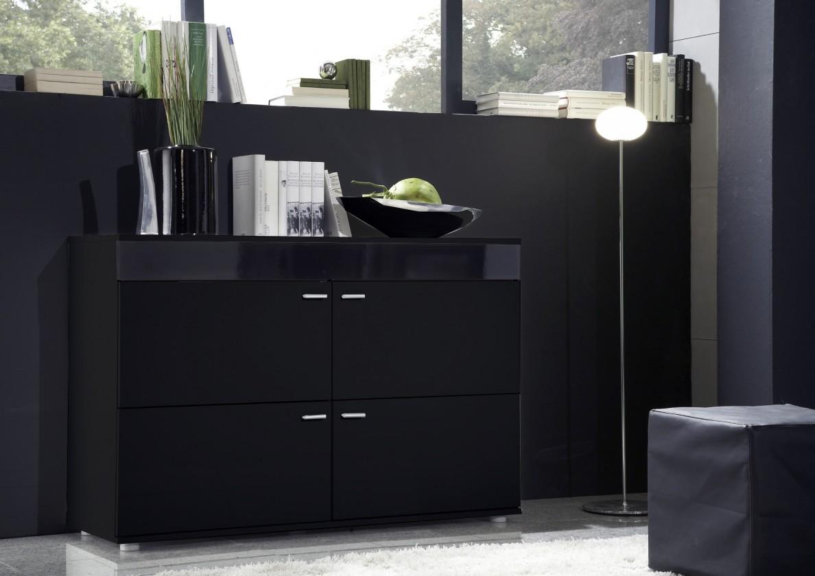 Bazar obývací pokoje Logo II (černá/černá lesk)