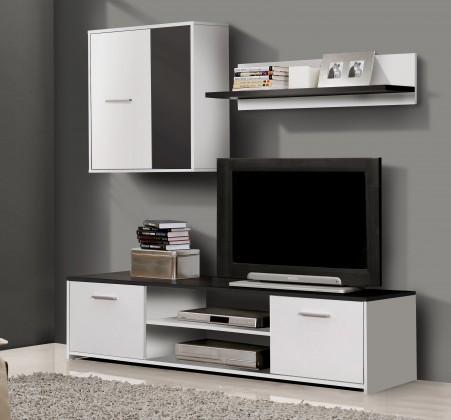 Bazar obývací pokoje Paco PCOM01-V05(bílá/černá)