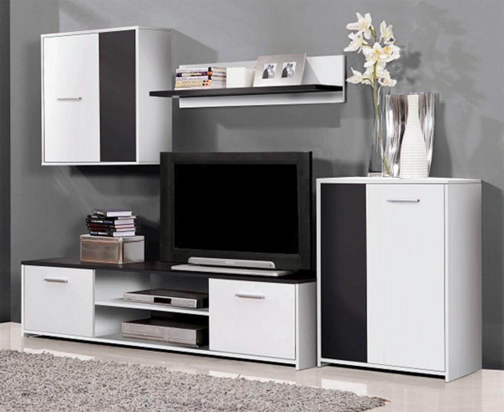 Bazar obývací pokoje Paco PCOM02-V05(bílá/černá)