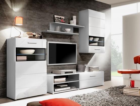 Bazar obývací pokoje Slate-STXM12B-Q11(bílá mat/bílá lesk/černá mat)