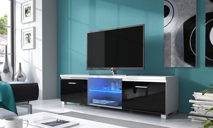Bazar obývací pokoje TV 2 - TV stolek (bílá/bílá)