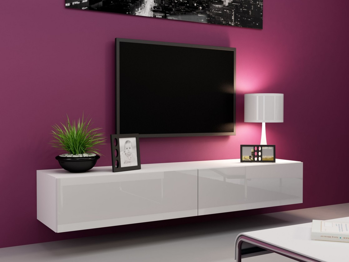 Bazar obývací pokoje Vigo - TV komoda 180 (bílá mat/bílá VL)