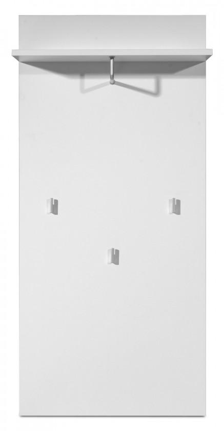 Bazar předsíně GW-Mediano - Věšákový panel, 3x háček (bílá)