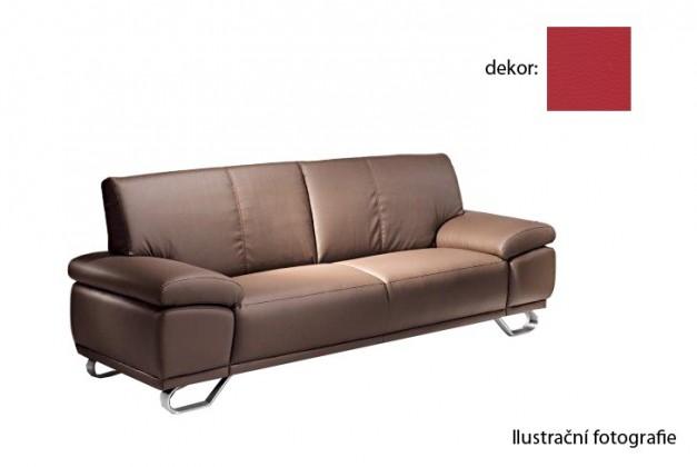 Bazar sedací soupravy Agata  -  trojsedák  (pulse - red d205, sk. 2S)