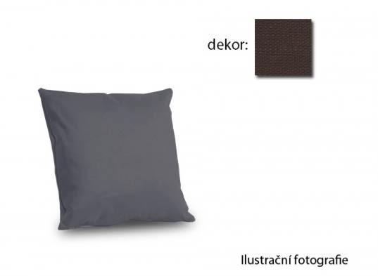 Bazar sedací soupravy Amora - polštář 40x40cm (vincent art-brown)