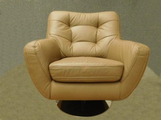 Bazar sedací soupravy Boss II (kůže madras G160, nit 27, chromové nohy - typ plate)